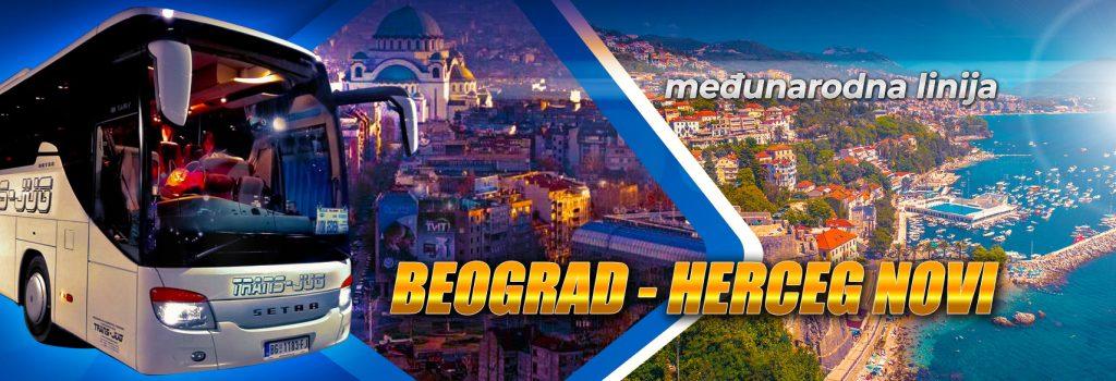 Redovna međunarodna autobuska linija Beograd-Herceg Novi